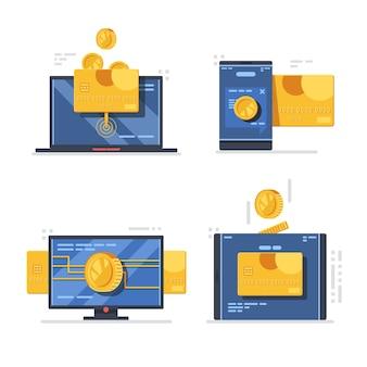 Онлайн-платеж через мобильные и настольные устройства