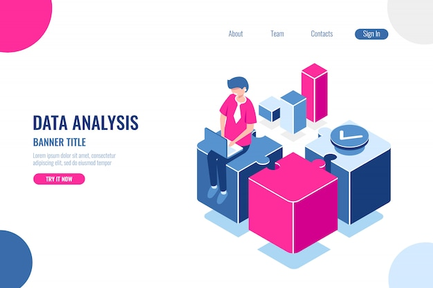 Анализ данных, заголовок баннера