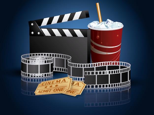 Фон элементов кино