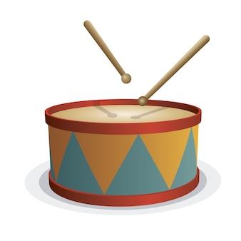 ドラムおもちゃの背景