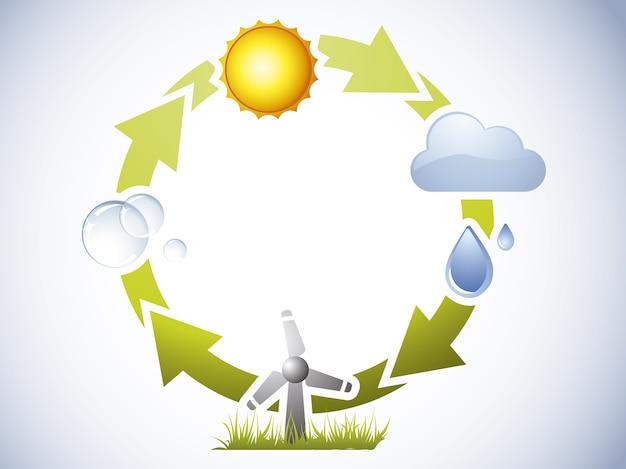 Фон водного цикла