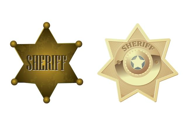 Значок золотого шерифа