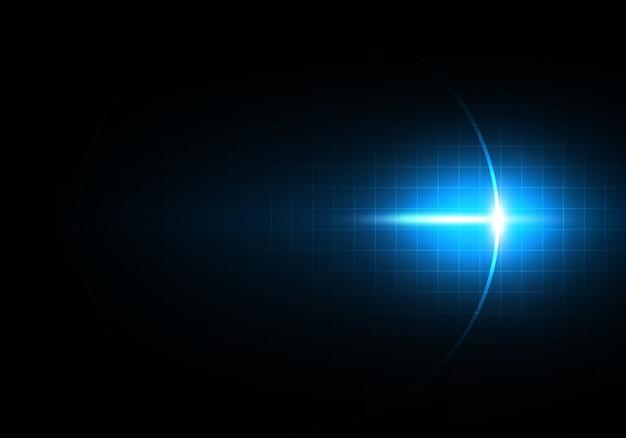 Абстрактный синий инновационный фон технологии