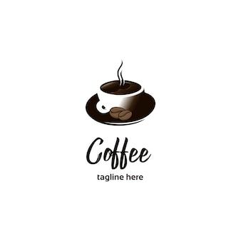 コーヒーカップのイラストロゴ