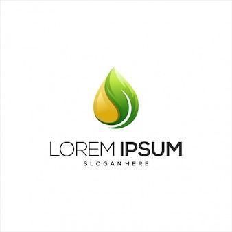 Оливковое масло с логотипом листьев