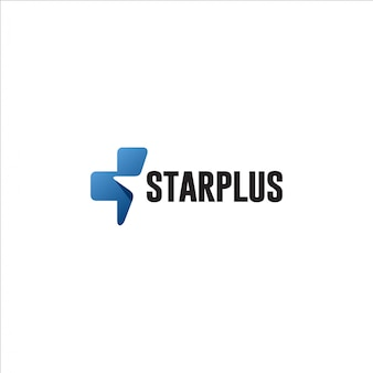 Шаблон логотипа звезда плюс