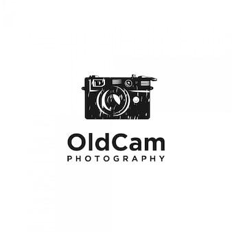 Винтажный логотип силуэт камеры
