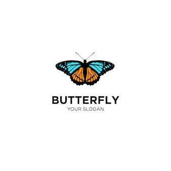 蝶手描きロゴ