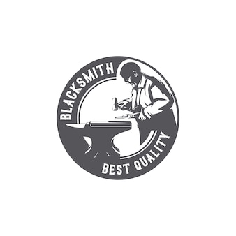 Кузнец рабочий логотип