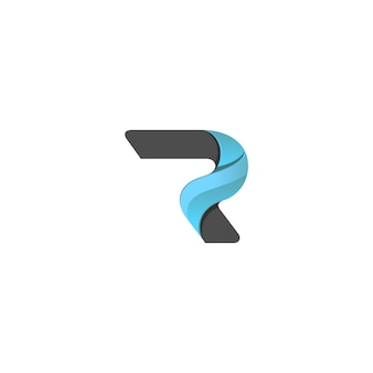 抽象的な手紙のロゴ