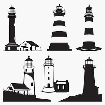 Силуэты маяков