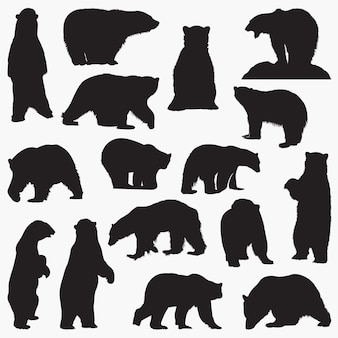 Силуэты белого медведя