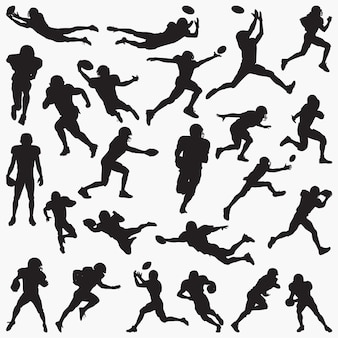 Силуэты футболистов