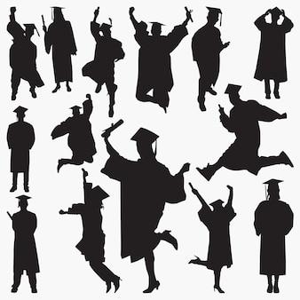 卒業のシルエット