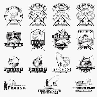 Рыбалка логотипы значки
