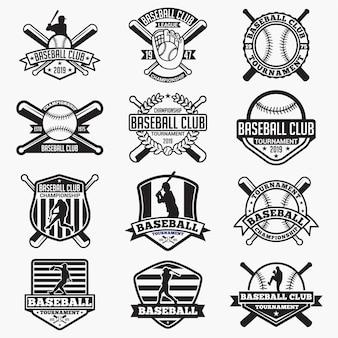 野球のロゴバッジ