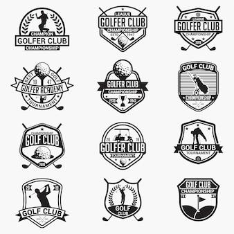 Гольф клуб значки и логотипы