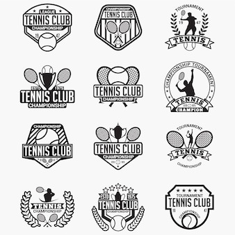 テニスクラブのバッジとロゴ