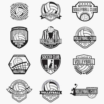 バレーボールクラブのバッジとロゴ