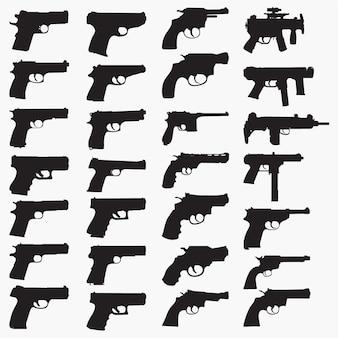 Силуэты ружья