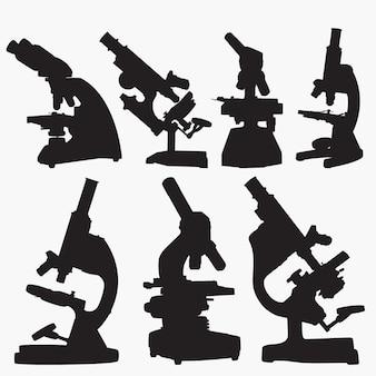 顕微鏡のシルエット