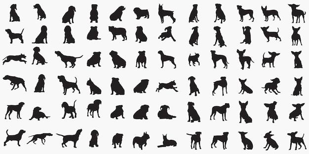 Силуэты собак