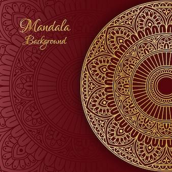 豪華な装飾的な曼荼羅の背景。