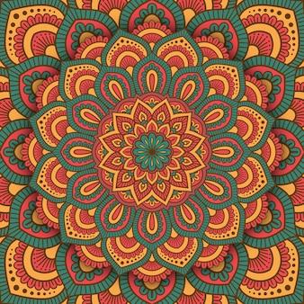 マンダラ抽象的なパターンの背景。