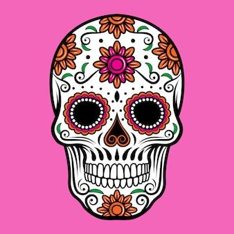 装飾的な砂糖の頭蓋骨