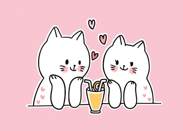Любители белых кошек целуются