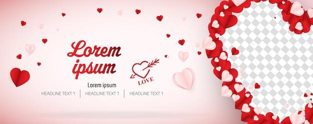 バレンタインデーソーシャルメディアバナーカバーベクトルテンプレート
