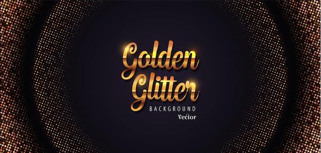 ゴールデングリッター抽象的なハーフトーンの背景イラスト