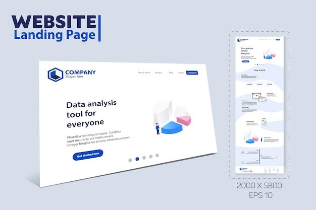 ランディングページウェブサイトのテーマテンプレートデザイン