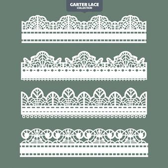 刺繍とレーザーカットのためのガーターレース飾りの設定