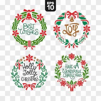 Набор для сбора файлов для резки рождественских венков с цитатой