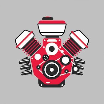 現代の車のエンジン