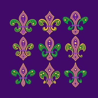 Флер де лис или королевская лилия символ коллекция