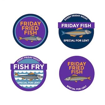 金曜日の特別な貸し魚のフライのイラスト