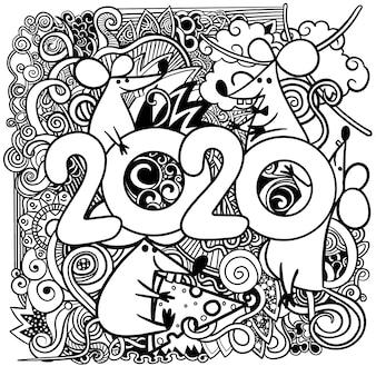 Концепция изображение символа китайского счастливого нового года