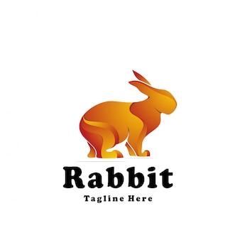 ベクトルのロゴのウサギ