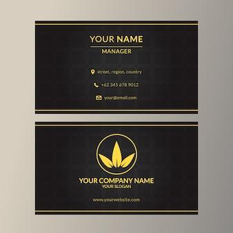 Шаблон визитной карточки с элегантным черным цветом
