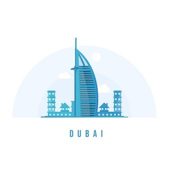 Дубайская башня небоскреба бурдж-халифа