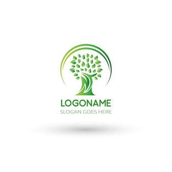 木のロゴの図