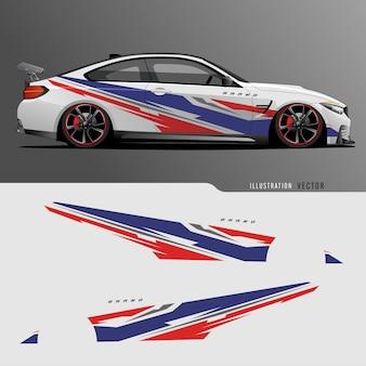 Автомобильная наклейка. абстрактные линии с серым фоном дизайна для транспортного средства виниловой пленкой