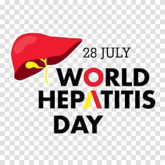 Векторная иллюстрация всемирного дня гепатита