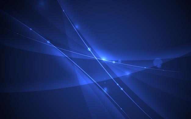 抽象的な線の曲線要素青い背景。