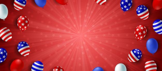 赤いバーストの背景バナー