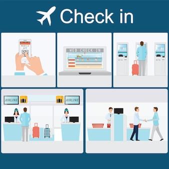 Регистрация в аэропорту в аэропорту