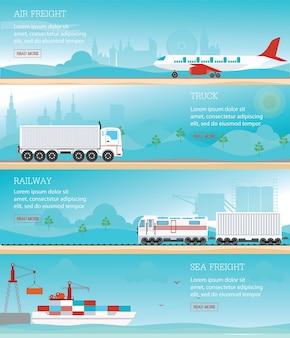 産業輸送のインフォグラフィック