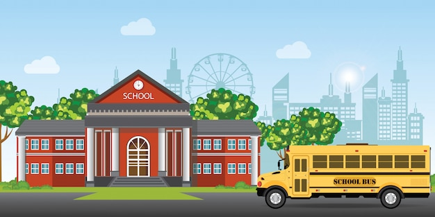 近代的な校舎です。